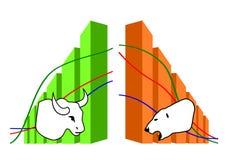 Commodity, Forex trading. Illustration Stock Photo