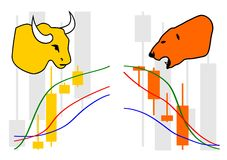 Commodity, Forex trading. Illustration Stock Images