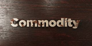 Commodity - grungy wooden headline on Maple  - 3D rendered royalty free stock image. This image can be used for an online website banner ad or a print postcard Stock Images