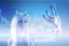 Commodity trading. Concept with business woman Stock Image