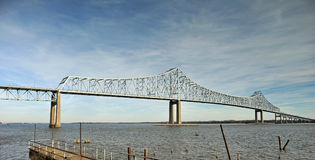 Commodore Barry Bridge, Chester, PA royalty-vrije stock foto