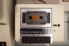 Commodore cassette player at Robot and Makers Show Stock Image