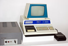 Commodore computer. ZAGREB, CROATIA - AUGUST 4rd. 2015. - old commodore personal computer PET 2001 series on display on exibition in zagreb ,croatia  , product Stock Image