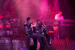 The Commodores. LINCOLN, CA – February 14: The Commodores perform at Thunder Valley Casino Resort in Lincoln, California on February 14, 2014 Stock Images