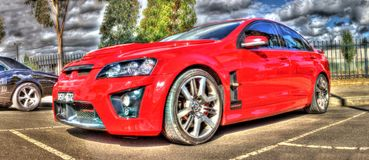 Commodoro rosso HSV di Holden fotografie stock