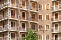 Common Apartament Building Block Facade Royalty Free Stock Images