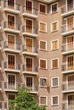Common Apartament Building Block Facade Stock Image