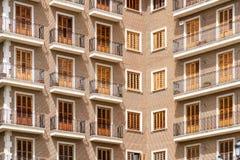 Common Apartament Building Block Facade Royalty Free Stock Photography