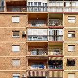 Common Apartament Building Block Facade Stock Images