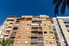 Common Apartament Building Block Facade Royalty Free Stock Image