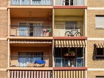 Common Apartament Building Block Facade Stock Photography