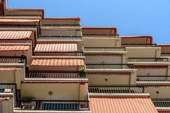 Common Apartament Building Block Facade Royalty Free Stock Photos
