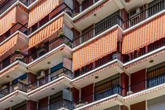 Common Apartament Building Block Facade Stock Photo