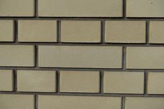Common bond yellow brickwork texture. Front view Stock Photography