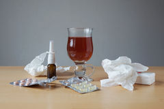 Common cold or flu remedies Stock Image