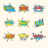 Common Comics Exclamations, speech bubble Vector Illustration Set Stock Image