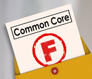 Common Core Bad Score Results Report Card Poor Performance Stock Photography
