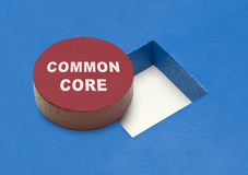 Common Core Blocks. Commone Core Circle Block with Square Hole royalty free stock photos