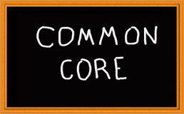 Common Core on Chalkboard stock illustration