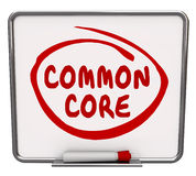 Common Core Word Circled Message Board Learning Concept Educatio Royalty Free Stock Photos