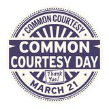 Common Courtesy Day stamp. Common Courtesy Day, March 21, rubber stamp, vector Illustration Stock Photos