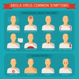 Common ebola virus symptoms vector infographic Stock Images