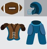 Common Football Gadgets. A  sample of gadgets usually found with football players Royalty Free Stock Images