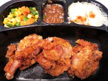 Common Fried Chicken TV Dinner Royalty Free Stock Photo