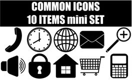 Common icons Royalty Free Stock Image