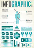 Common Infographic Template Royalty Free Stock Photography
