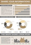 Common Infographic Template Stock Photography