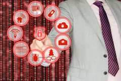 Common information security threats Stock Images