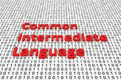 Common intermediate language. As binary code, 3D illustration Royalty Free Stock Photography