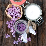 Common lilac perfume Stock Image