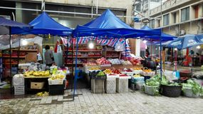A common market for selling vegetable in China Royalty Free Stock Images