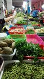 A common market for selling vegetable in China Royalty Free Stock Image