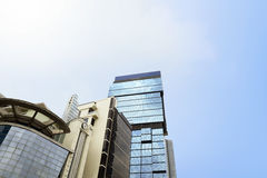 Common modern business skyscrapers with high rise buildings arch Royalty Free Stock Images