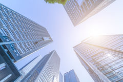 Common modern business skyscrapers, high-rise buildings, architecture raising to the sky Stock Photos