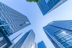 Common modern business skyscrapers, high-rise buildings, architecture raising to the sky Stock Photography