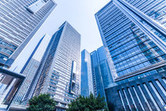 Common modern business skyscrapers, high-rise buildings, architecture raising to the sky Royalty Free Stock Photography