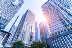 Common modern business skyscrapers, high-rise buildings, architecture raising to the sky Royalty Free Stock Photos