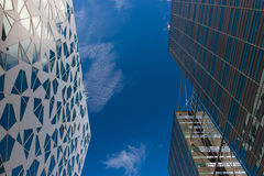 Common modern business skyscrapers, high-rise buildings Stock Images