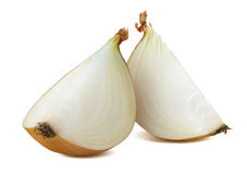 Free Common Onion 2 Quarters Isolated On White Background Royalty Free Stock Photo - 66598155