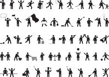 Common pictogram people activities Royalty Free Stock Photo