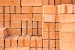 Common quality building bricks Stock Image