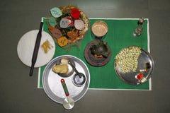 Pooja Preparation. Hindu marriage ritual royalty free stock photography