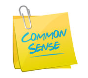 Common sense memo post illustration design Royalty Free Stock Photos