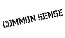 Common Sense rubber stamp Stock Image