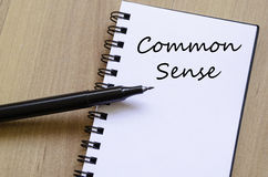 Common sense write on notebook Royalty Free Stock Image