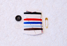 Common Sewing Kit Royalty Free Stock Photo